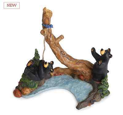 Big Sky Carvers Bearfoots Old Swimming Hole Figurine Jeff Fleming