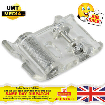 ROLLER Foot - For Domestic Sewing Machine Snap on Stitch Presser Rolling UK