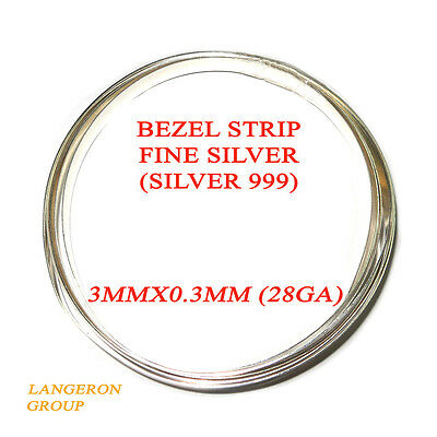 5 Fine Silver Plain .999  Bezel Cups for Cabochons 3.25mm