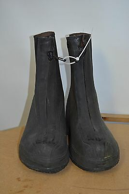 Used Military Surplus Wet Weather Black Rubber Overshoes/ Boots Size 10