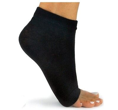 Pedi Socks with elastic Toeless 1 Black Pair for comfort while exercising, etc