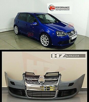 Vw Golf Mk5 R32 Type Front Bumper + Chrome Grille Grill - Uk Stock