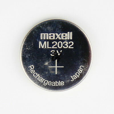 Maxell ML2032 Rechargeable 3V Battery coin cell motherboard camera New