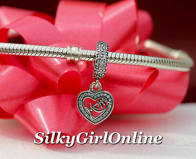a7594447c64 Authentic Pandora Center Of My Heart Charm 791521CZ Mom Mothers Day Gift
