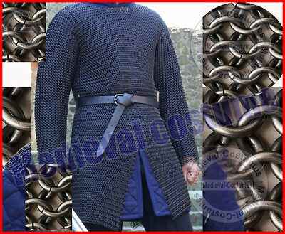 Butted Chainmail Shirt Large F Sleeve Chainmail Armor Chainmaile Haubergeon RS51