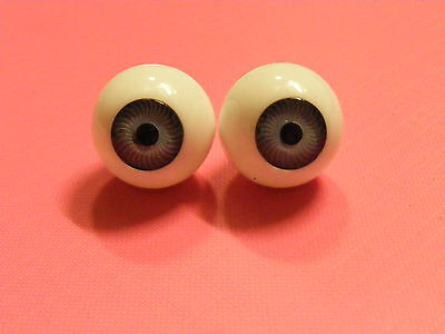 Reborn / Porcelain Doll Eyes FULL ROUNDS 12mm GREY Discontinued Line