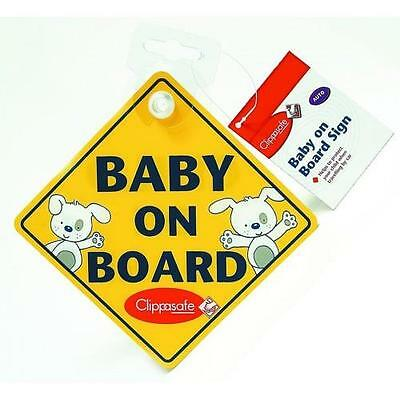Clippasafe Car Sign Double Sided -  Baby On Board / Child On Board