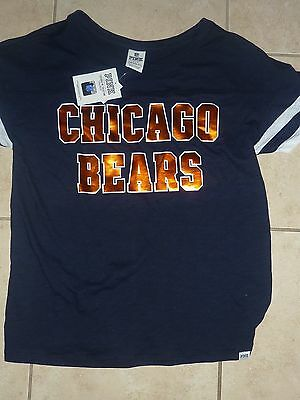 Victorias Secret Pink Bling Nfl Chicago Bears Football Crew Teeshirt Nwt