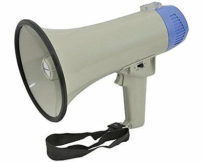 Megaphone 10W Amplifier With Siren, Microphone, Strap & 600M Range