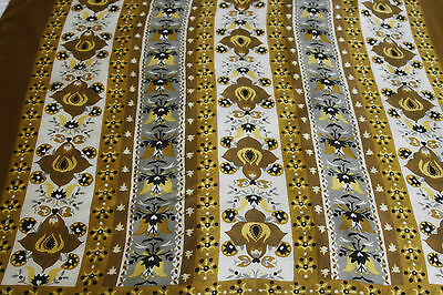 Vintage Liberty of London Silk Scarf Gold 27 inch Square Mid Century Pattern