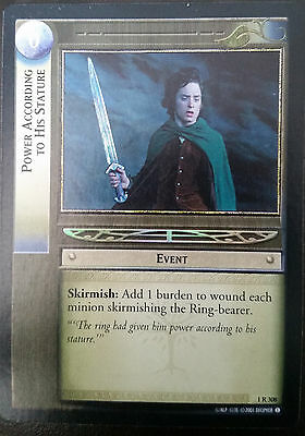 LOTR TCG, Power According To His Stature, 1R308 ''FOIL''