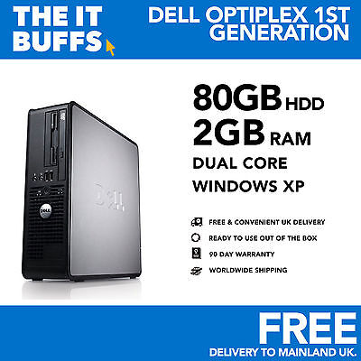 Dell Optiplex - Dual Core 2GB RAM 80GB HDD Windows XP - Desktop PC Computer