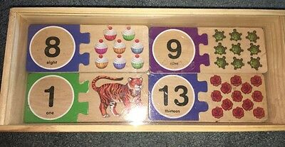 Numbers Wooden Puzzle Cards - Fun Learning Toys by Melissa & Doug (2542)