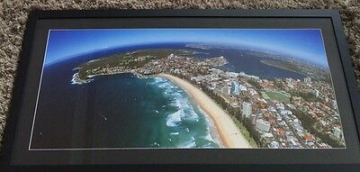 Manly Beach Panorama FRAMED