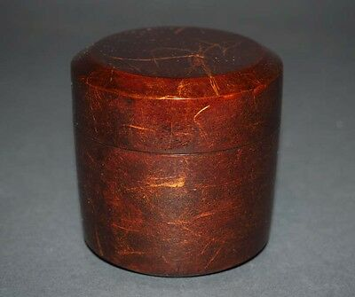 Japanese Traditional Lacquer Wood Tea Caddy Natsume 棗 吹雪