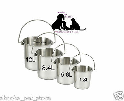 Premium Range Stainless Steel Dog Pails | Buckets | Ideal Crates, Shows, Kennels