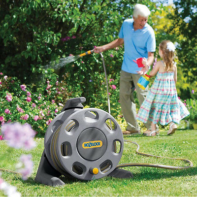 Hozelock 2412 Free Standing Garden Hose Reel 25m Hose & Accessories New 2016 GRY