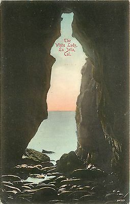 Hand Colored Postcard The White Lady La Jolla CA San Diego County