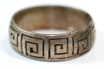 "B817 Band Ring Sterling 7.4g 925 1/4""W vintage size 11 3/4"