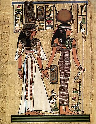 POSTCARD ANCIENT EGYPT Painting Nefertari Thebes papyrus large format