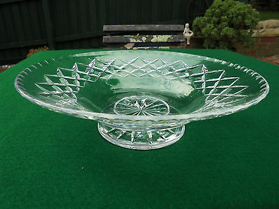 ART DECO HAND CUT ENGLISH WEBB CORBETT CRYSTAL FOOTED BOWL - c1940