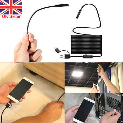 2/3.5/5M USB Tube Phone Camera Endoscope Borescope Inspection for Mobile