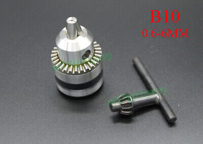 Drill Chuck 0.6-6mm Mount B10 Taper Type Lathe Chuck For Electric Power Tools