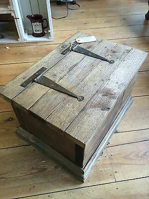 Small vintage wooden chest