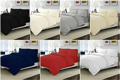 100% Egyptian Cotton Duvet Quilt Covers Set Single Double King Size Bed Sheets