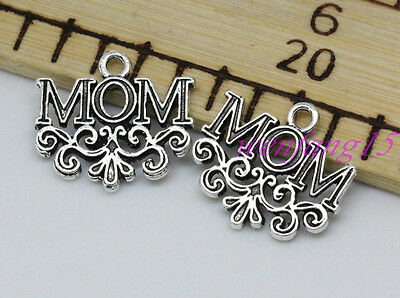 charms pendant Tibetan silver FIND Jewelry Mother gift necklace  10-200pcs 1.8g