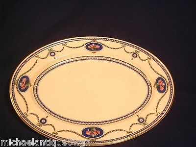Large Antique Royal Worcester Oval Platter in The Cameo Pattern