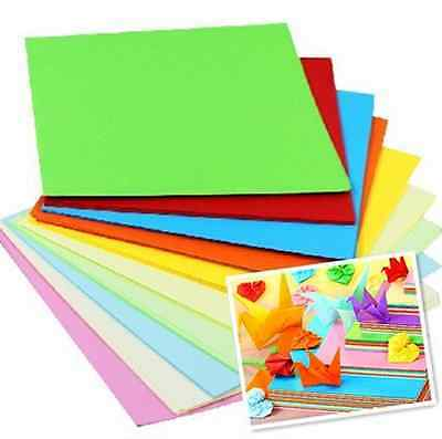 Coloured Sheets Origami Paper Double Sided 5/7/8/10/14.5cm Square Paper Pack 60G
