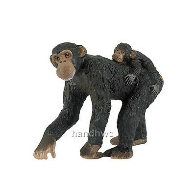 Papo 50012 Chimpanzee with Baby Wild Animal Figurine Model Toy Replica - NIP