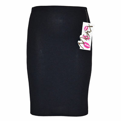 Childrens Girls Kids New Black Pencil Skirt School Ages 7 8 9 10 11 12 13 Years