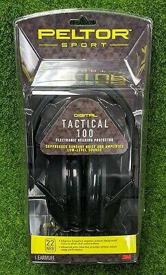 Peltor Tactical 100 Earmuffs Electronic 22db (NRR) Hearing Protector 3M - TAC100
