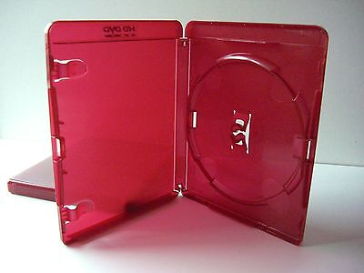 A Quality Dvd - Hd Dvd - Cd Case In Oxblood Red 15 mm Thick