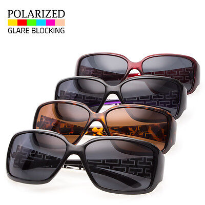 New Polarized WoMen Sunglasses Designer Fashion Eyewear Black Brown Shades Ret f