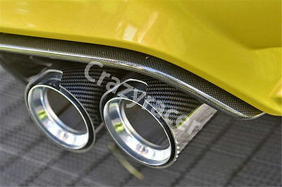2Pc Glossy Carbon Fiber M Performance Exhaust Tips Muffler Pipe (2.5*3.5 inch)