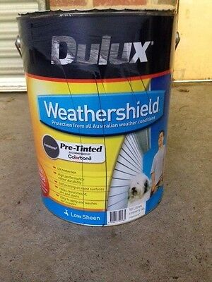 Dulux Weathershield 10L Low sheen Pre-tinted Ironstone (colourbond)