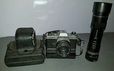 Yashica FR2 SLR 35mm Film Camera w/ 50mm 1:1.9 lens Japan winder case extras