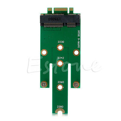 NGFF M2 B SATA-Based Solid State Drives to MSATA Adapter Converter Card New