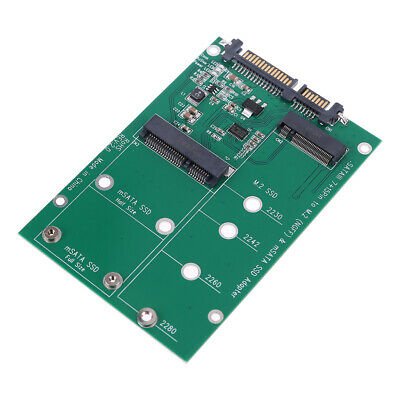 mSATA & M.2 (B-Key NGFF) 2in1 Multiple Sized SSD to SATA 3 III Adapter Converter