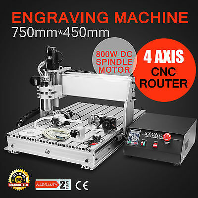 4 Axis CNC Milling Machine Router Drill Wood Cutting Engraving Engraver 6040Z