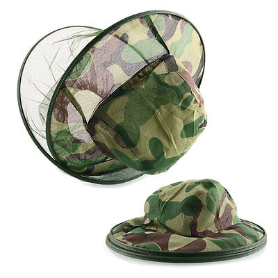 Insect Bee Mosquito Fly Net Mesh Head Face Fishing Hiking Hat Protector Cap