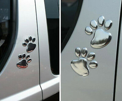 Auto 3D Car SUV Window Bumper Body Paw Decal Sticker Bear Dog Animal Foot Print