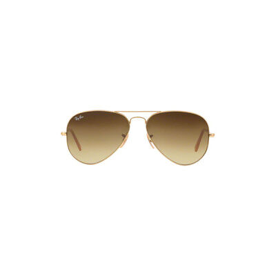 New Ray Ban Aviator Sunglasses RB3025 Gold Metal 112/85 58mm Brown Gradient Lens