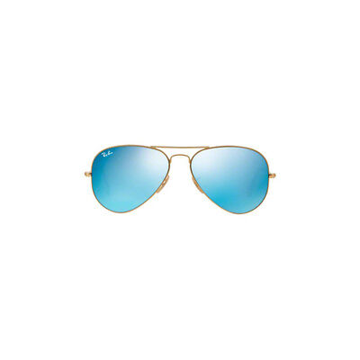 Ray Ban Aviator Sunglasses RB3025 Matte Gold 112/17 58mm Green Mirror Blue Lens