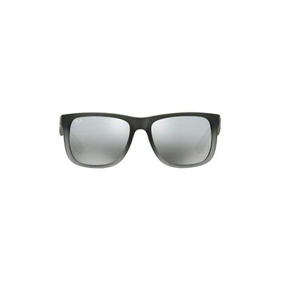 Ray Ban Justin Sunglasses RB4165 Gray 852/88 55mm Silver Mirror Gradient UV Lens