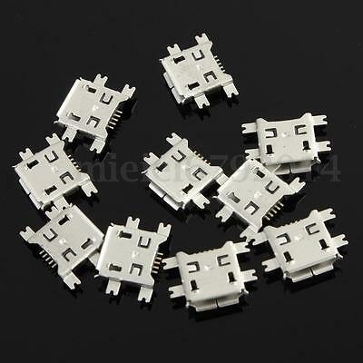 10Pc Micro USB Type B 5Pin Female Socket 4Legs SMT SMD Soldering Connector parts