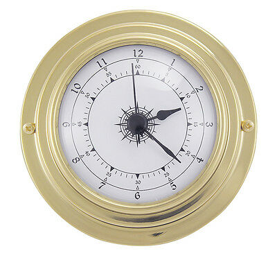 Maritime Quartz Uhr in Messing - Boot Schiff Yacht Instrument - sc-9400